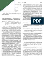 REAL DECRETO 782/1998, de 30 de abril por el que se aprueba el Reglamento para el desarrollo y ejecución de la Ley 11/1997,de 24 de abril, de Envases y Residuos de Envases