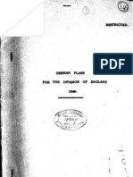 German Plans for the Invasion of England Operation SEALION 1947