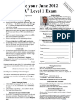 Level 1 June 2012 CFA MRU Reg Form Evening