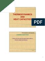 Microsoft Power Point - 3 - Thermodynamics & Heat Capacities