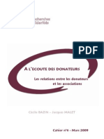 Les Relations Entre Les Donateurs Et Les Associations