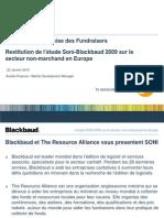 Restitution de l'étude Soni-Blackbaud 2009 sur le secteur non-marchand en Europe