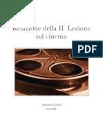 Relazione Sulla II Lezione Sul Cinema