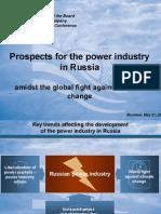 Vyacheslav Y Sinyugin - Power Industry in Russia