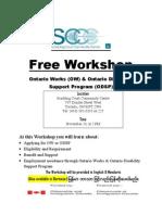 Workshop Flyer OW & ODSP