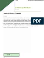 Teste de Dureza Rockwell - Versão para Impressão - CIMM