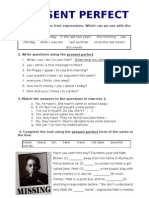 1e. Present Perfect Worksheet