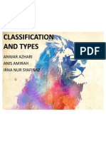 Classifications and Types