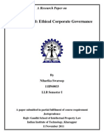 Satyam Fraud - Ethical Corporate Governance