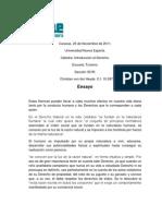 Derecho Natural Ensayo de Derecho DERECHO CVO (1)