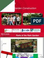 New Jersey; Rain Gardens Construction - Rutgers University