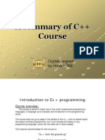 A Summary of C++ Course