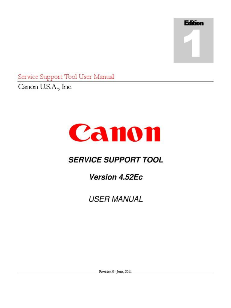 Service Support Tool v4.52Ec (Rev. 0) User Manual | Usb Flash Drive |  Installation (Computer Programs)