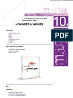 Mipa Award 2009 - Nominees and Winner