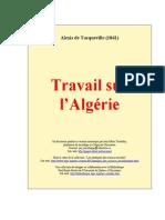 Alexis de Tocqueville Travail Sur Algerie