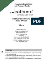 User Manual Geratherm Tensio Control
