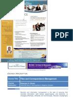 Files & Correspondence Management - 2-Day Training Program [Dec 1-2, 2011]