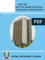 Introduction to Agricultural Extension and Rural Socoilogy