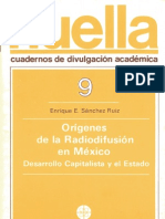 Orígenes de la radiodifusión en México, desarrollo capitalista y el Estado