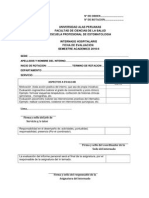 Ficha de Evaluacion Internado 2010-II