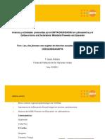 """Avances y actividades relativas a la Declaración Ministerial """"Prevenir con Educación"""""""