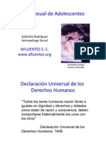 Sexualidad de adolescentes en México y sus derechos