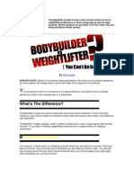 Bodybuilder or Weightlifter (You Can't Be Both)