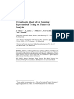 Wrinkling in Sheet Metal Forming:Experimental Testing vs. NumericalAnalysis-IJFP Journal 2003 Selman2