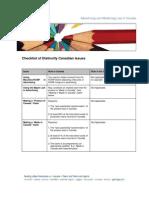 Adv Checklist