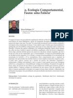 Hidreletricas Ecologia Comport a Mental, Resgate de Fauna - Uma Falacia[1]