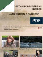Histoire et évolution de la foresterie au Québec