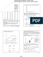 Regression and Correlation - Lecture Notes Regression and Correlation