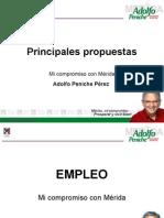 Principales Propuestas Adolfo Peniche