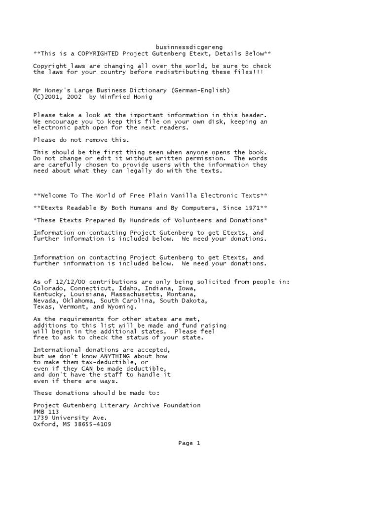 Businnessdicgereng Indemnity E Text