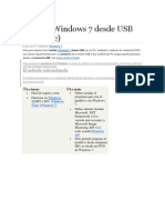 Instalar Windows 7 Desde USB