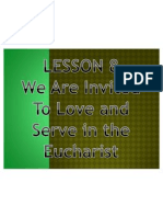 G3 Lesson 8-We Are Called to Serve in the Eucharist