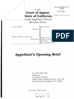 TAITZ v DUNN (APPEAL - CA 4th APPELLATE DISTRICT) - Appellant's Opening Brief.