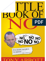 Tony Abbott's The Little Book of No