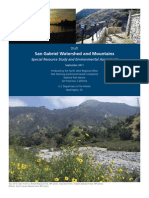 San Gabriel Watershed and Mountains Special Resource Study and Environmental Assessment
