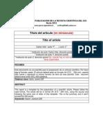 Plantilla Para Publicacion en La Revista Cientifica Del Eci