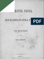 (Ioan Broju) 1890 Primatul Papal Si Infaibilitatea Papei