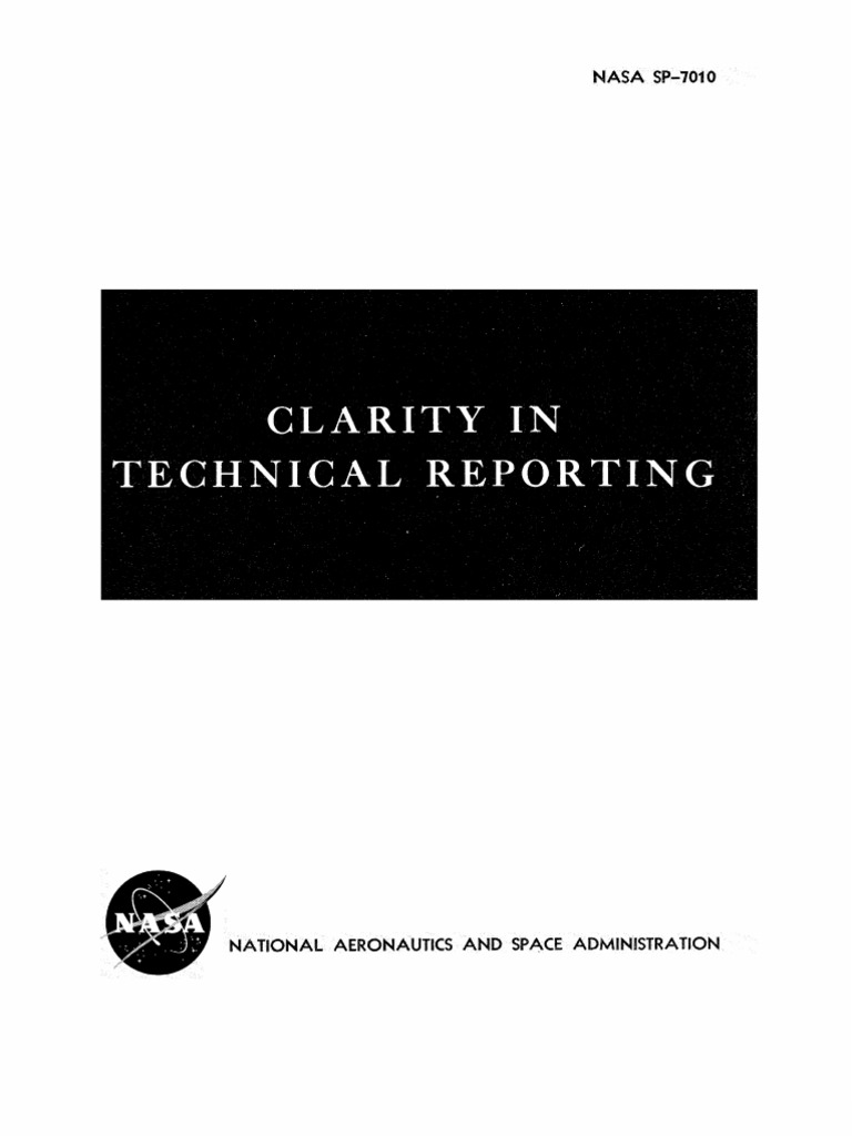 Clarity In Technical Reporting