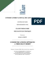Communication Optique a Tres Haut Debit vs 3