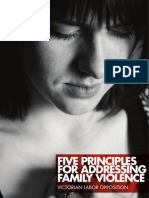 Five Principles for Addressing Family Violence | Victorian Labor Party