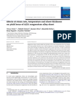 Effects of Strain Rate, Temperature and Sheet Thickness on Yield Locus of AZ31 Magnesium Alloy Sheet