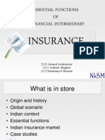 Essential Functions of a Financial Intermediary - Insurance