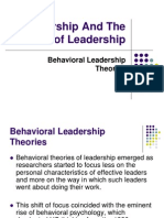 Behavioral Theories of Leadership
