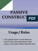 Passive Construction Latest