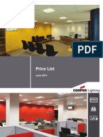 Cooper Lighting Pricelist June 2011