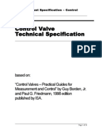 350 ISA Compliant Control Valve Specification